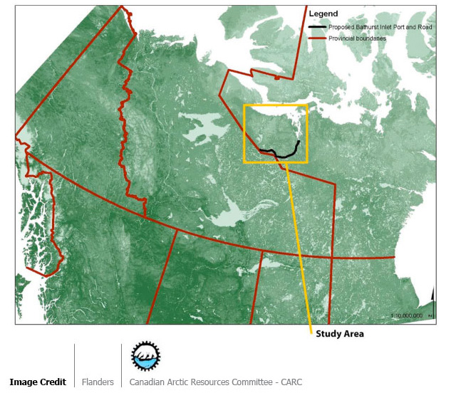 Caribou Landscape Vulnerability Mapping for the Proposed Bathurst Inlet Port and Road