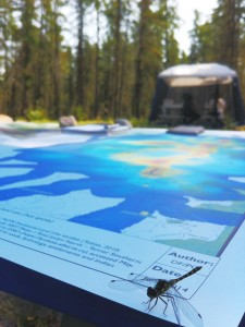 Land use planning map table during the MCFN Industry culture camp, August, 2014