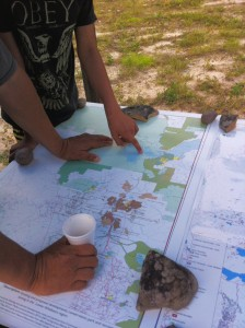 Discussion about the expanding footprint of development with a local land user. Aug, 2014